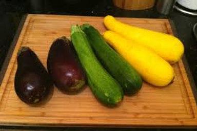 Zucchini, Squash, Eggplant