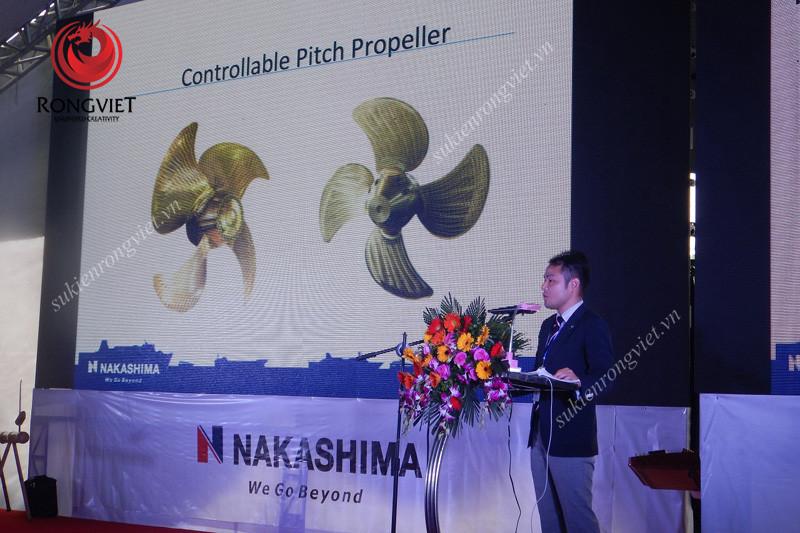 Khu vực bục phát biểu trong sự kiện - Công ty sự kiện Rồng Việt