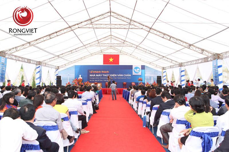 Toàn cảnh lễ khánh thành thủy điện Văn Chấn - Công ty sự kiện Rồng Việt