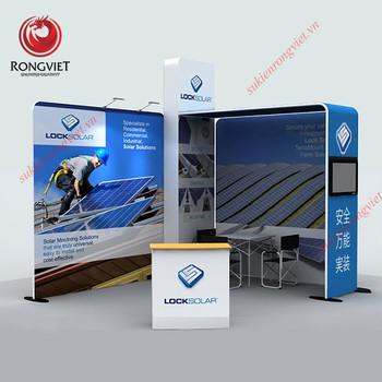 Thi công backdrop công nghệ mới - Công ty sự kiện Rồng Việt