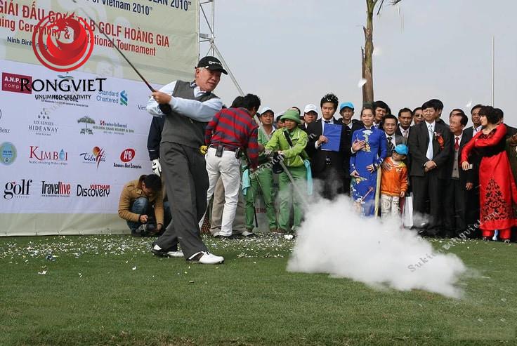 Những hình ảnh đầu tiên của sự kiện khai trương sân golf Hoàng Gia - Công ty sự kiện Rồng Việt