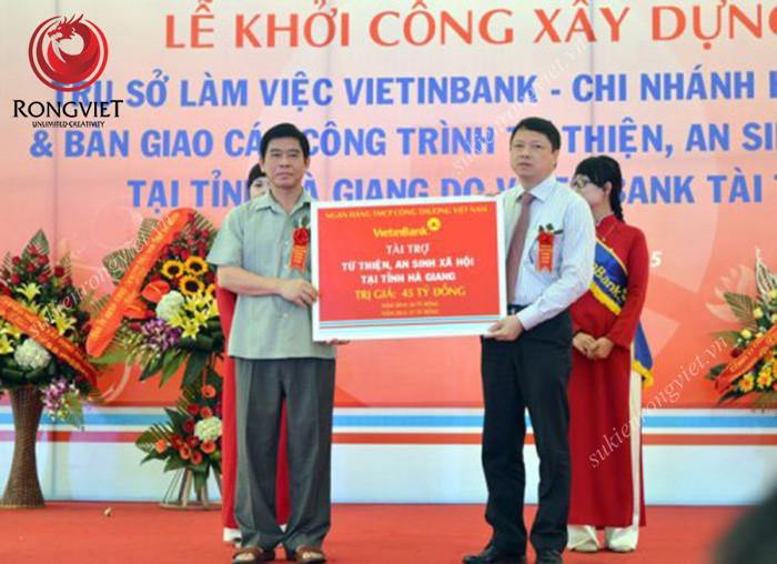 Lễ khởi công xây dựng chi nhánh Vietinbank Hà Giang - Công ty sự kiện Rồng Việt