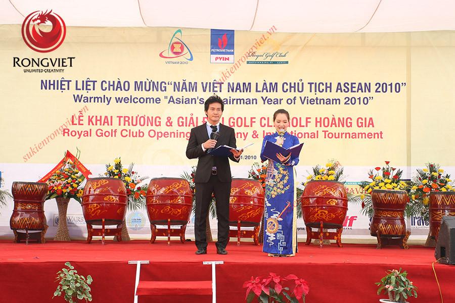 Sự kiện khai trương sân Golf Hoàng Gia diễn ra ngoài trời - Công ty sự kiện Rồng Việt