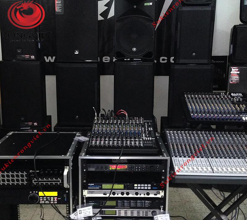 Thi công hệ thống âm thanh cho sự kiện ngoài trời - công ty sự kiện Rồng Việt