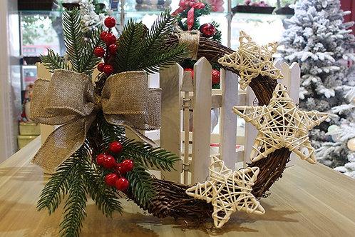 Vòng hoa tròn trang trí Giáng sinh