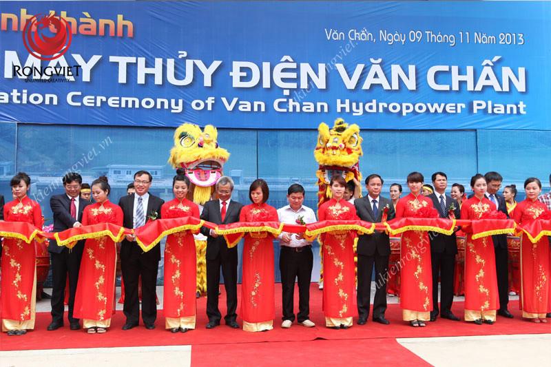 Nghi lễ cắt băng khánh thành - công ty sự kiện Rồng Việt