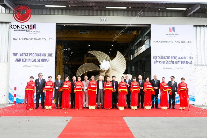Hội thảo công nghệ và giới thiệu dây chuyền sản xuất chân vịt mới của Nakashima Việt Nam - Công ty sự kiện Rồng Việt
