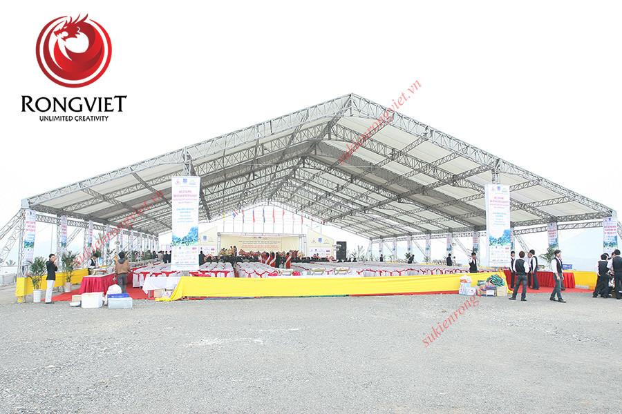 Toàn bộ khung cảnh cho sự kiện khánh thành nhà máy  - Công ty sự kiện Rồng Việt