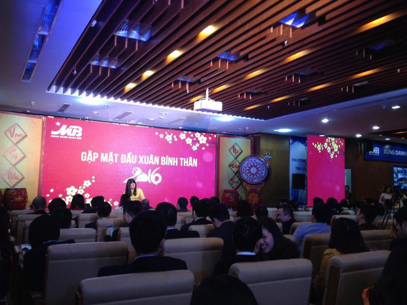 Khu vực chính diễn ra sự kiện Chào xuân - Công ty sự kiện Rồng Việt