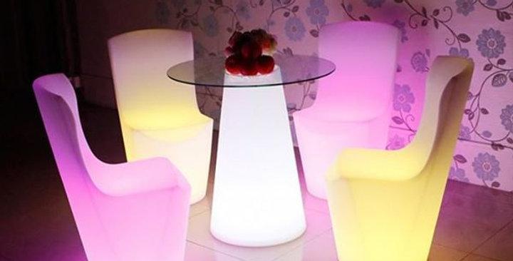 bàn ghế cafe led
