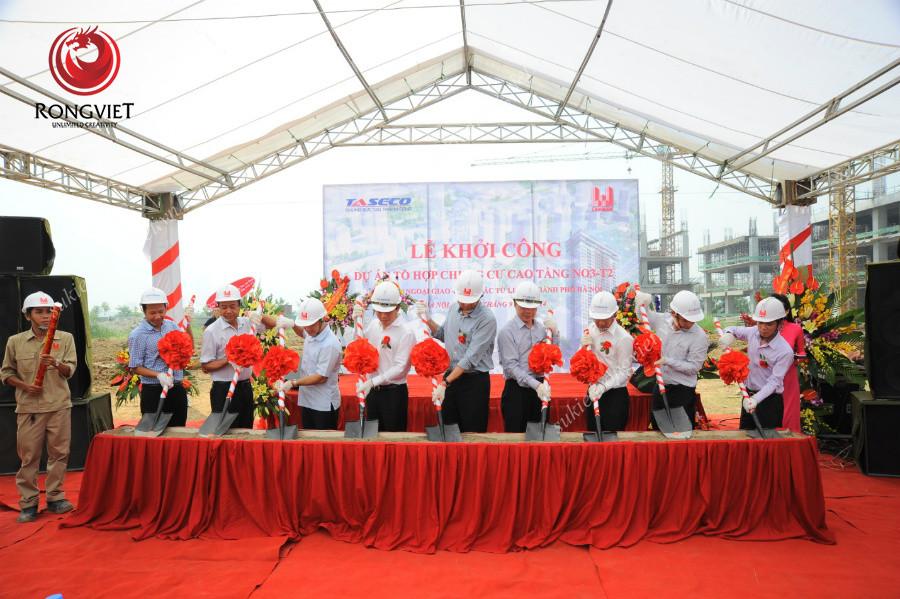 Nghi thức của lễ khởi công dự án chung cư cao tầng NO3 – T2 - Công ty sự kiện Rồng Việt
