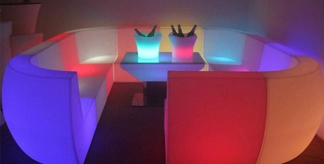 Bộ bàn ghế LED phát sáng BPS024