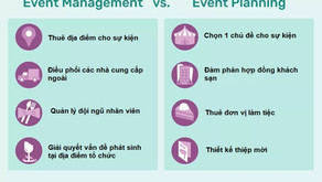 What is the difference between Event Planning and Event Management?