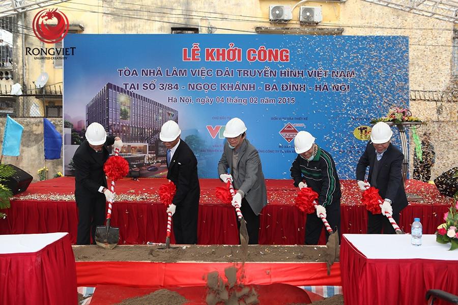 Lễ khởi công tòa nhà làm việc đài truyền hình Việt Nam - Công ty sự kiện Rồng Việt