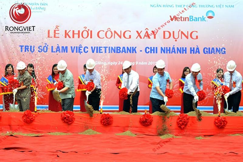 Lễ khởi công trụ sở ngân hàng Vietinbank Hà Giang - Công ty sự kiện Rồng Việt