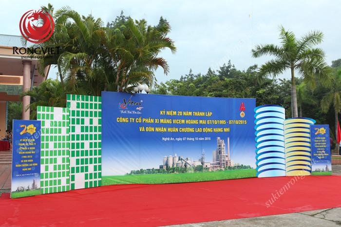 Lễ kỷ niệm 20 năm thành lập Vicem Hoàng Mai - Công ty sự kiện Rồng Việt