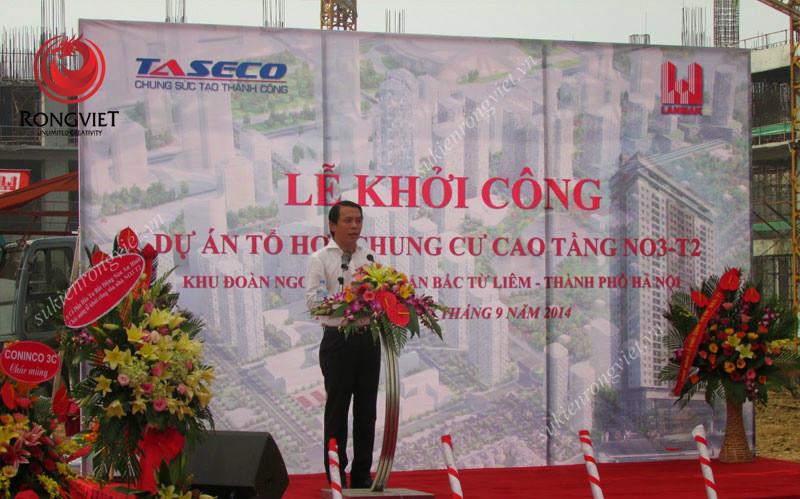 Lễ khởi công dự án chung cư cao tầng NO3 – T2 - Công ty sự kiện Rồng Việt