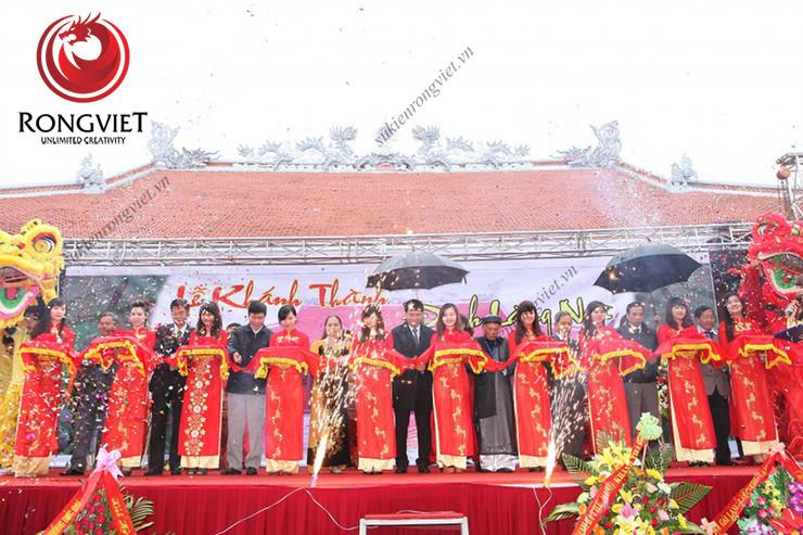 Nghi lế cắt băng khánh thành đình làng Ngà - công ty sự kiện Rồng Việt