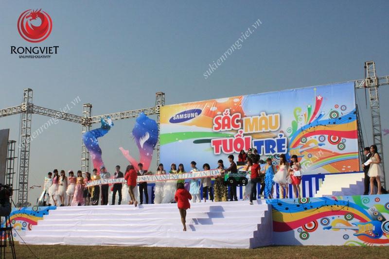Sự kiện Rồng Việt cung cấp thiết bị sự kiện phục vụ 35000 nhân viên của Samsung - Công ty sự kiện Rồng Việt