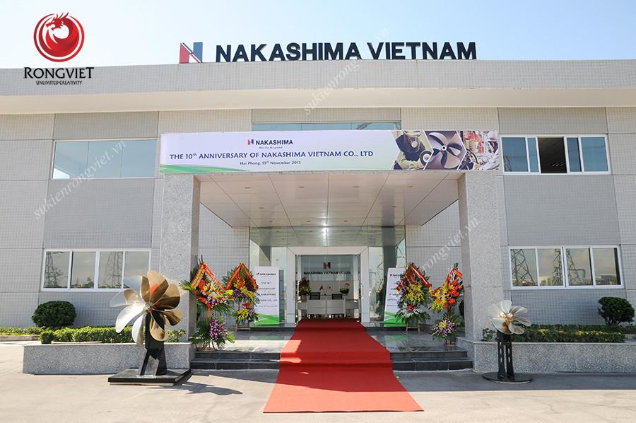 Toàn ảnh nhà máy Nakashima Việt Nam - Công ty sự kiện Rồng Việt
