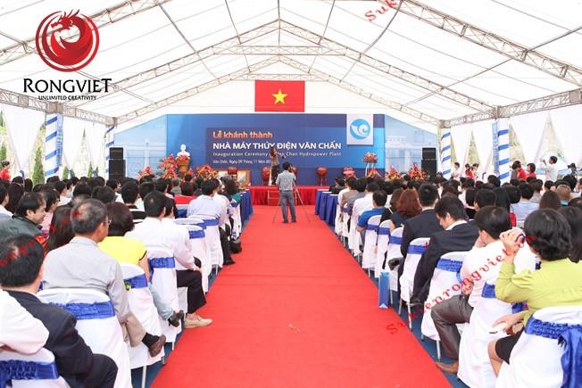 Sự kiện khánh thành nhà máy thủy điện Văn Chấn - Công ty sự kiện Rồng Việt
