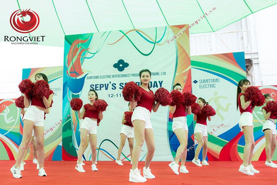 Nhảy cổ động tại ngài hội thể thao SEPV - Công ty sự kiện Rồng Việt