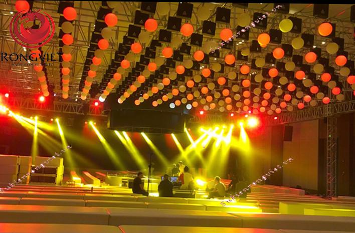 Thi công lắp đặt ánh sáng sân khấu - công ty sự kiện Rồng Việt