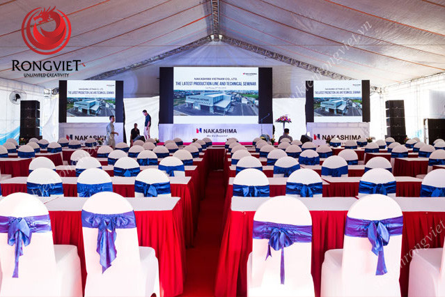 Toàn khung cảnh diễn ra hội thảo - Công ty sự kiện Rồng Việt