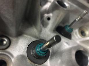 New valve stem seals