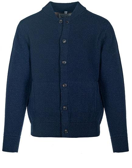 Wool Blend Bomber Cardigan