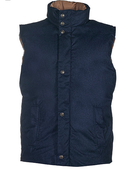 Reversible Filled Vest Navy