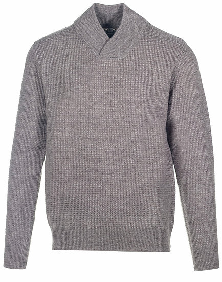 Athletic V-Neck Sweater Taupe