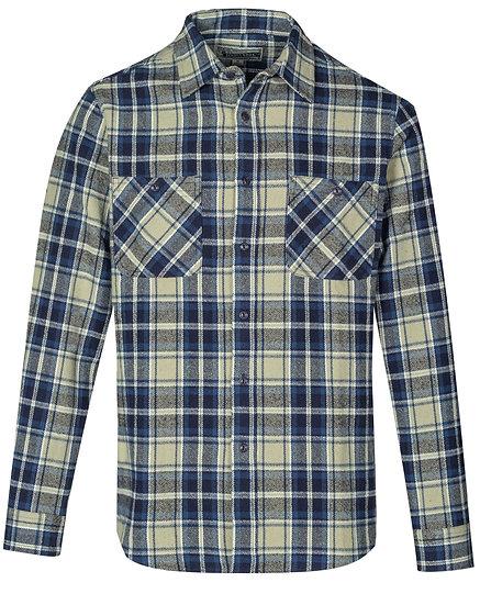 Cotton Plaid Shirt Blue