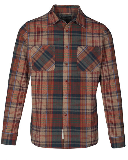 Cotton Plaid Shirt Brick