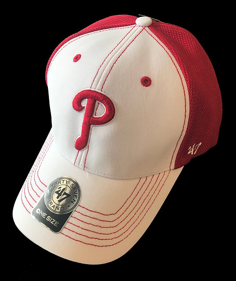 White & Red PHILLIES Cap