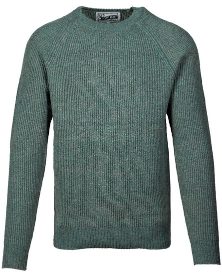 Ribbed Wool Crewneck Sweater Sage