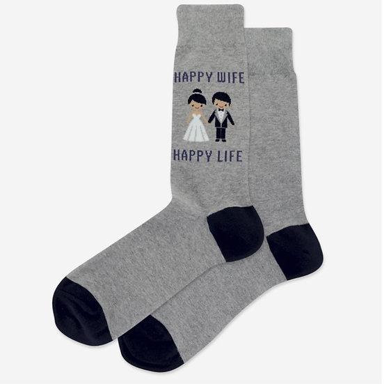 Happy Wife Happy Life Socks