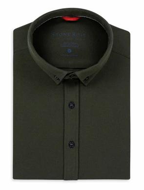 Olive Performance Knit Long Sleeve Shirt
