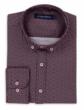 Berry Ditsy Print Long Sleeve Shirt