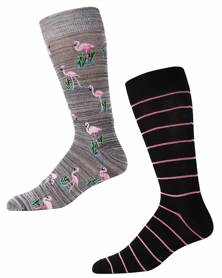 Flamingo Bamboo Socks 2 pair