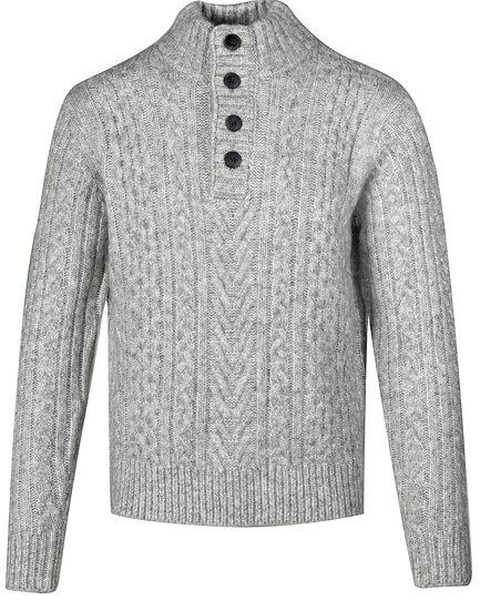 Triple Blend Henley Sweater