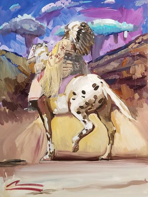 War Music Series #1 Female on Horseback
