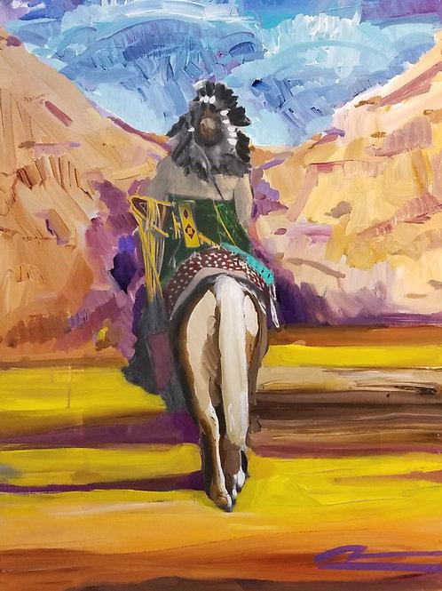 War Music Series #2 Female on Horseback