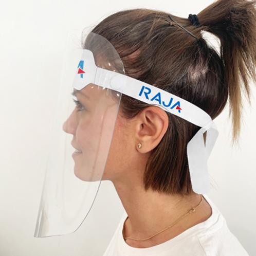 Visière de protection de profil avec accroche blanche