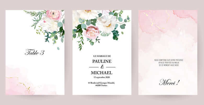 Faire-part - Bouquet