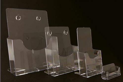 Présentoir plastique trois tailles différentes