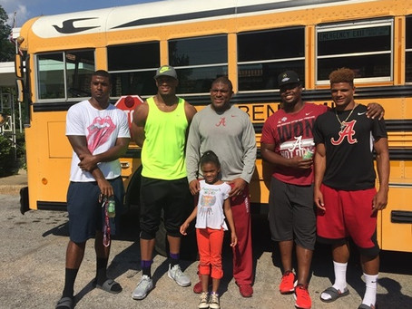 UA athletes share Bible's wisdom, life lessons with summer campers