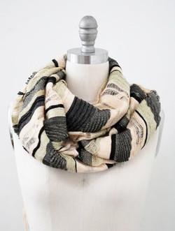Bold stripe scarf