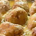 Meatballs with white wine sauce