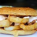 Calamari sandwich with ali-oli sauce